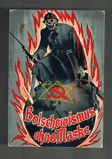 1939 Vienna Germany Postcard Cover Anti Bolshevik Conference Russian Skeleton
