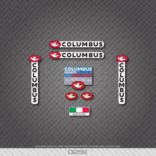 0259 Columbus AIRPLANE Bicycle Frame and Fork Stickers Decals