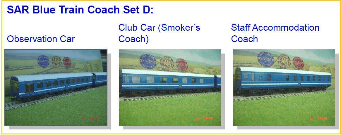 Sydafrikas blå tåg  Set D (Observation, Club bil, Personal)