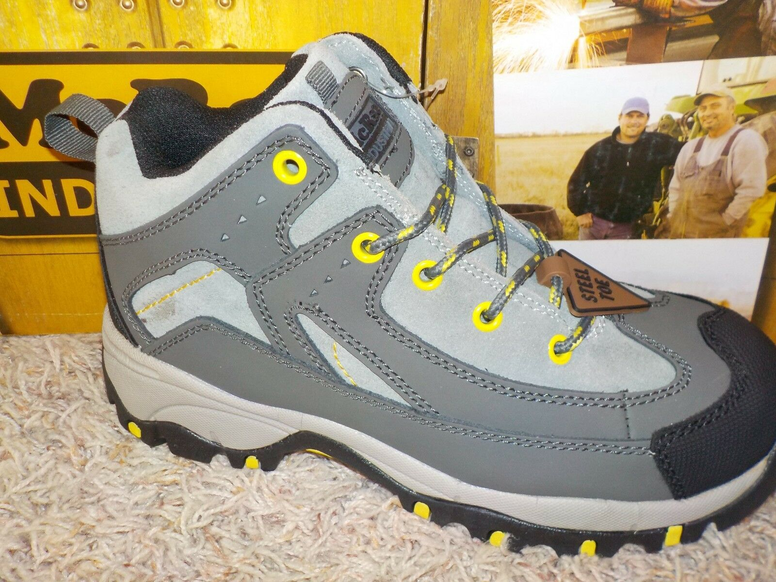 WOMENS MCRAE STEEL TOE & EH HIKER BOOTS MULTIPLE SIZES AVAILABLE (B2)