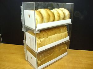 DS-Acrylic-trays-Bread-Donut-Bagels-Cookie-CUPCAKE-Pastry-Bakery-Storage-Display