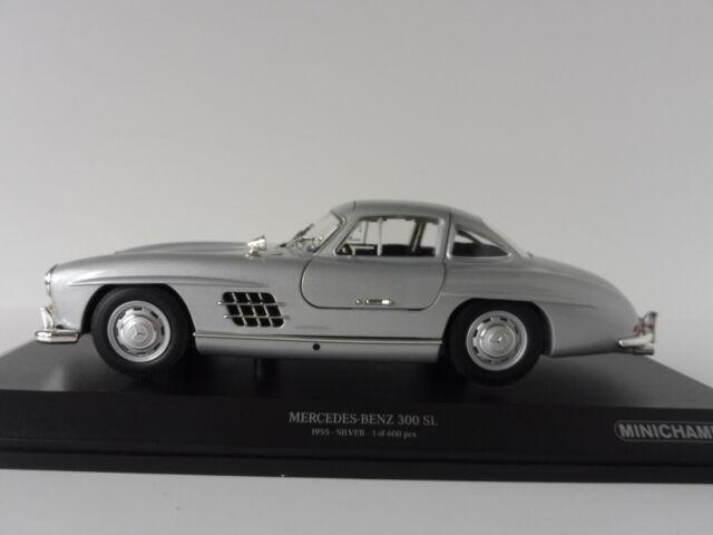 Mercedes-Benz 300 Sl 1955 Argent, Échelle 1/18 Minichamps 110037210 Pma