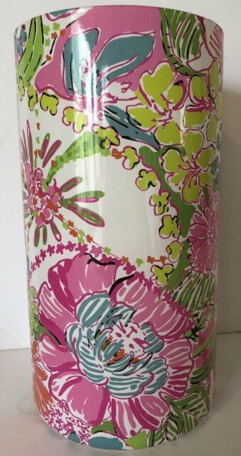 Lilly Pulitzer For Target Glass Hurricane Candle Holder Vase Nosie