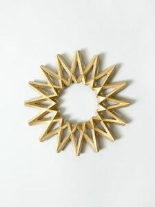 """Futagami Japan Brass """"Galaxy"""" Trivet – Designed by Masanori Oji – New"""