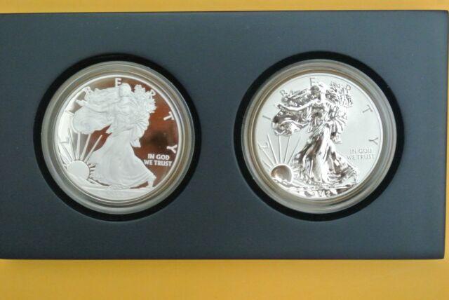2012-S (2-Coin) Silver American Eagle 75th Anniversary Set
