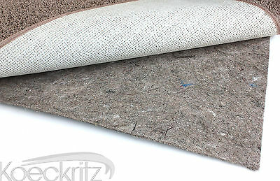 6'x12' Non-skid Reversible Rubber Felt Area Rug Pad for Hard Surfaces/Carpet