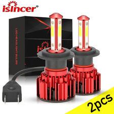Isincer H7 Led Headlight Bulb Kit High Low Beam 6500k Super White 20000lm 4side Fits 2005 Kia Amanti