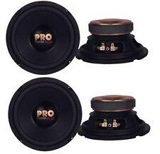 "4) Pyramid W64 6.5"" 800 Watt Car Audio Midrange/Mid Bass Poly Woofers Speakers"