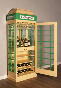 Drinks Cabinet Iconic Irish Telephone Box Style Bar In Ivory And Green Ebay
