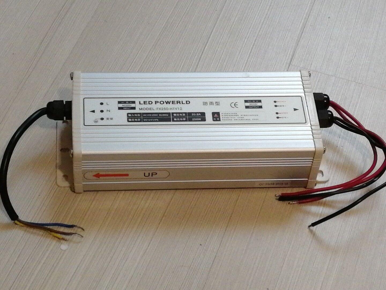 ALIMENTATORE per LED 12V 250W in alluminio, anche anche anche per ESTERNO e6c4ec