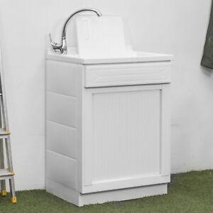 Mobile lavatoio 60x60 cm con anta serranda orizzontale vasca e ...