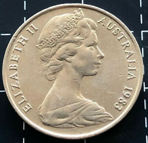 1983-AUSTRALIAN-10-CENT-COIN-PARTIAL-DIE-LAMINATION-PEEL-ERROR