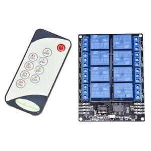 8-Kanal-Wireless-5V-Relais-Modul-Infrarot-Fernbedienung-Driver-Self-Locking