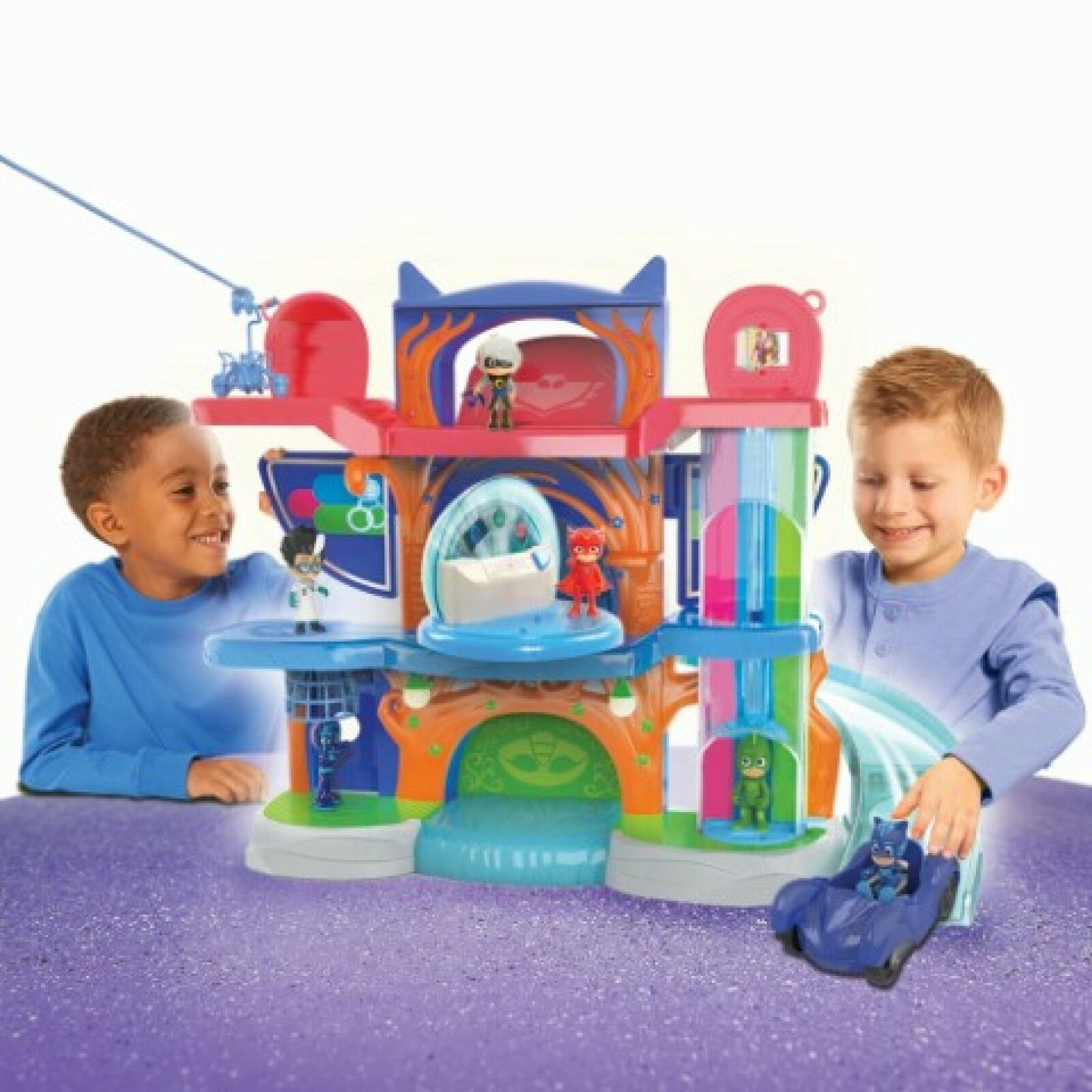 PJ Masks Headquarter Play Set Toy Catboy Car Figure Cat New Kids Rescue Center