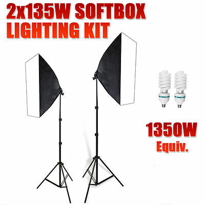 Photography Studio Softbox Lighting 1350W Photo Video Soft Box Light Stand Kit