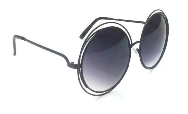 70's Retro Vintage Big Oversized Large Metal Frame Sunglasses Mirrored Lenses