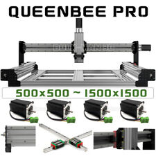 Queenbee Pro Cnc Router Machine 4 Axis Mechanical Kit With Tingle Tension System