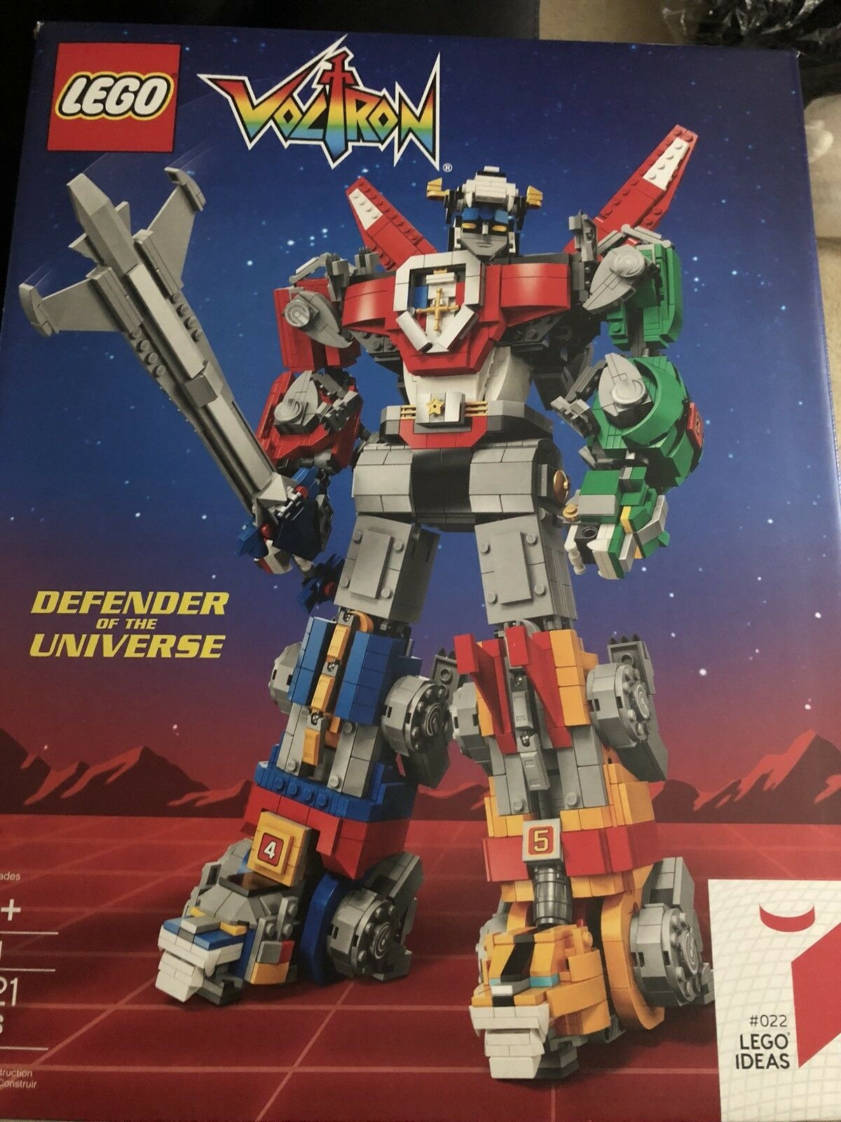 Lego Voltron Set 2018 cm SDCC Vip Exclusivo 21311