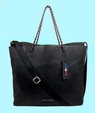 TOMMY  HILFIGER BAG in BAG Sport Training Black Leather Tote Shoulder Bag $118