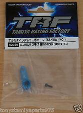 Tamiya 42249 TRF ALLUMINIO diretta Servo Horn (Sanwa/KO) (TRF418/TRF419), Nuovo con imballo