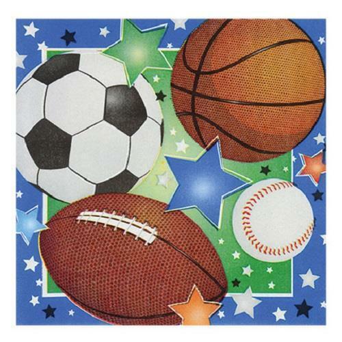 Baseball, Football, Basketball, Soccer All-Sports Party Decoration Supplies