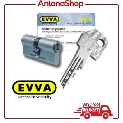 3 chiavi NON DUPLICABILI anti perforazione o sonda EVVA Cilindro di sicurezza