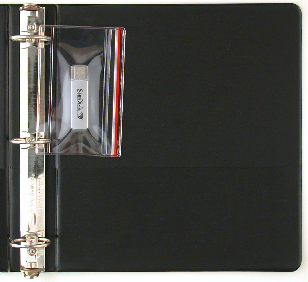 StoreSMART USB Flash Drive Memory Cards Zipper Case for 3-Ring Binders R1831-10