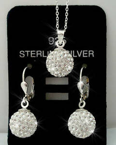 925-echt-Silber-Schmuckset-mit-Swarovski-Stein-3-Teilig-925-Silber-Kette