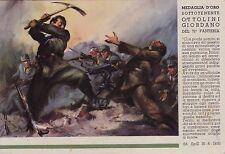 """# MEDAGLIA D'ORO OTTOLINI GIORDANO - 71° FANTERIA """"PUGLIE""""- da pittura TAFURI"""