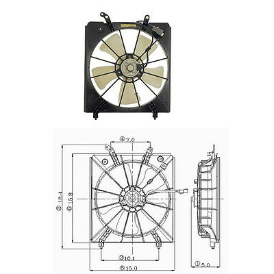 AC Radiator Cooling Fan Assembly For 1998-2002 Honda Accord V6 3.0L Driver Side
