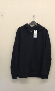 Burton-Menswear-Navy-Zip-Through-Hoodie-Size-M-R131