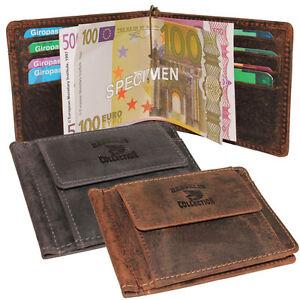 Dargelis-Vintage-Leder-Dollarclip-Geldspange-Geldboerse-Geldbeutel-Kartenboerse