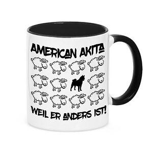 Tasse BLACK SHEEP - AMERICAN AKITA Hund Hunde Schaf Kaffebecher Siviwonder