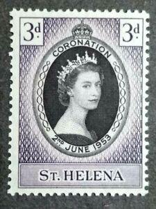 1953 St. Helena Queen Elizabeth II Coronation Single Issue - 1v MNH