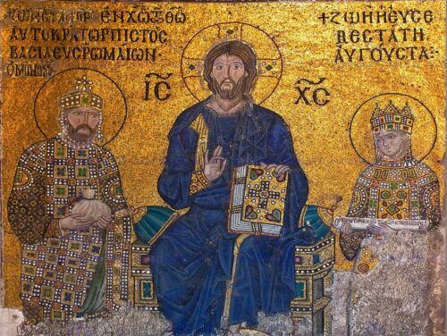 MURAL HAGIA SOPHIA ISTANBUL ORTHODOX JESUS CHRIST ART POSTER PRINT CC6080