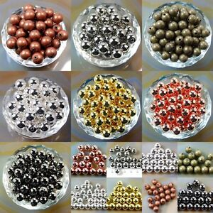 Wholesale-200Pcs-Smooth-Round-Metal-Copper-Spacer-Beads-3mm-6mm-8mm