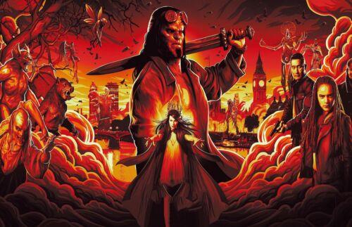 Hellboy 2019 Movie Poster Print T1301 A4 A3 A2 A1 A0|