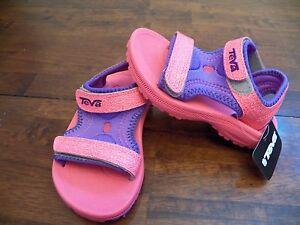 ecac2dfcc New Kids Teva Psyclone 3 Pink Purple Strap Beach Play Water Sandals ...