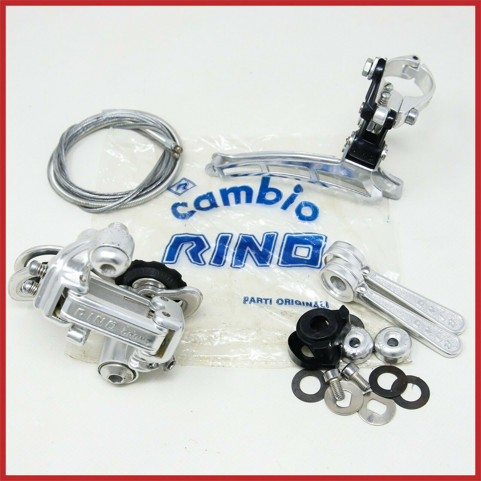 NOS CAMBIO RINO CRONO FRONT REAR DERAILLEUR MECH SHIFTERS DOWNTUBE VINTAGE 80s