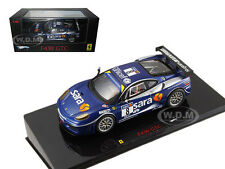 FERRARI F430 GTC #8 BLUE ELITE EDITION 1/43 DIECAST MODEL CAR BY HOTWHEELS P9952