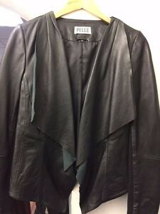 Ladies Casual Fashion Leather Black Jacket STYLE 4228 / CLEARANCE!!!