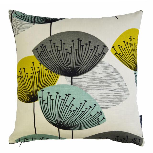 Sanderson Dandelion Clocks Vtg/Retro Mid Century fabric Cushion Cover -Chaffinch