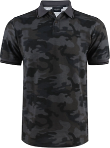 Polo-homme-col-sport-manches-courtes-Yves-Enzo-camouflage-army-anthracite