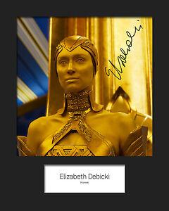 GotG-Vol-2-ELIZABETH-DEBICKI-Ayesha-2-Signed-Reprint-10x8-Mounted-Photo-Print