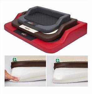 grand chien lit tapis de luxe matelas eco cuir sofa mousse m moire forme ebay. Black Bedroom Furniture Sets. Home Design Ideas