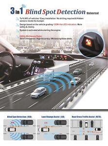 UNIVERSAL Blind Spot Detection + Lane Change Assist + Rear Cross Traffic Assist