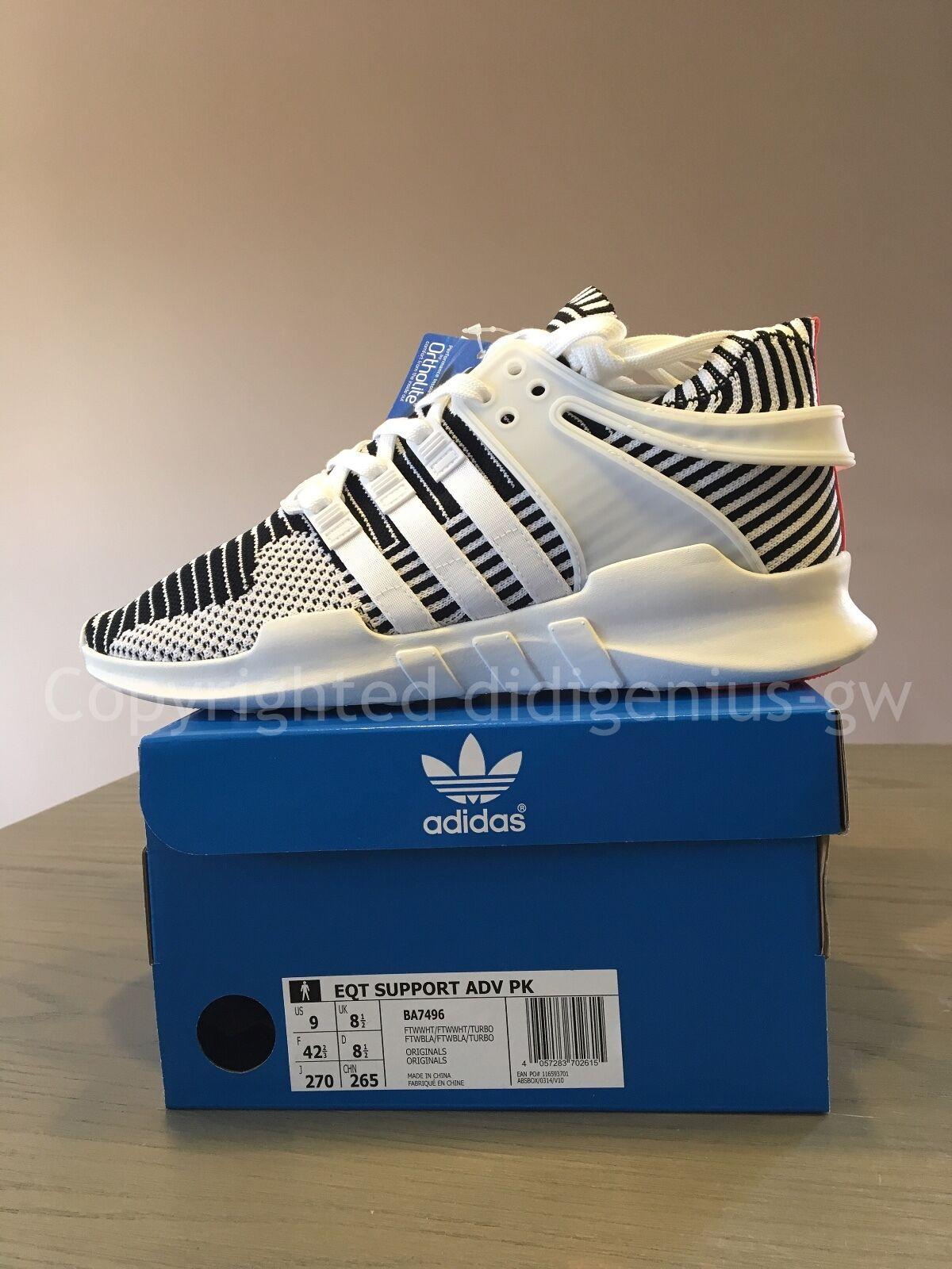 Adidas EQT Support ADV Primeknit  Zebra  EU 42 2 3 US 9 UK 8 1 2 Boost NMD PK