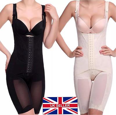 UK LADIES FULL TORSO CORSET GIRDLE FOR WOMEN FIRM ALL IN ONE BODY WAIST SHAPER