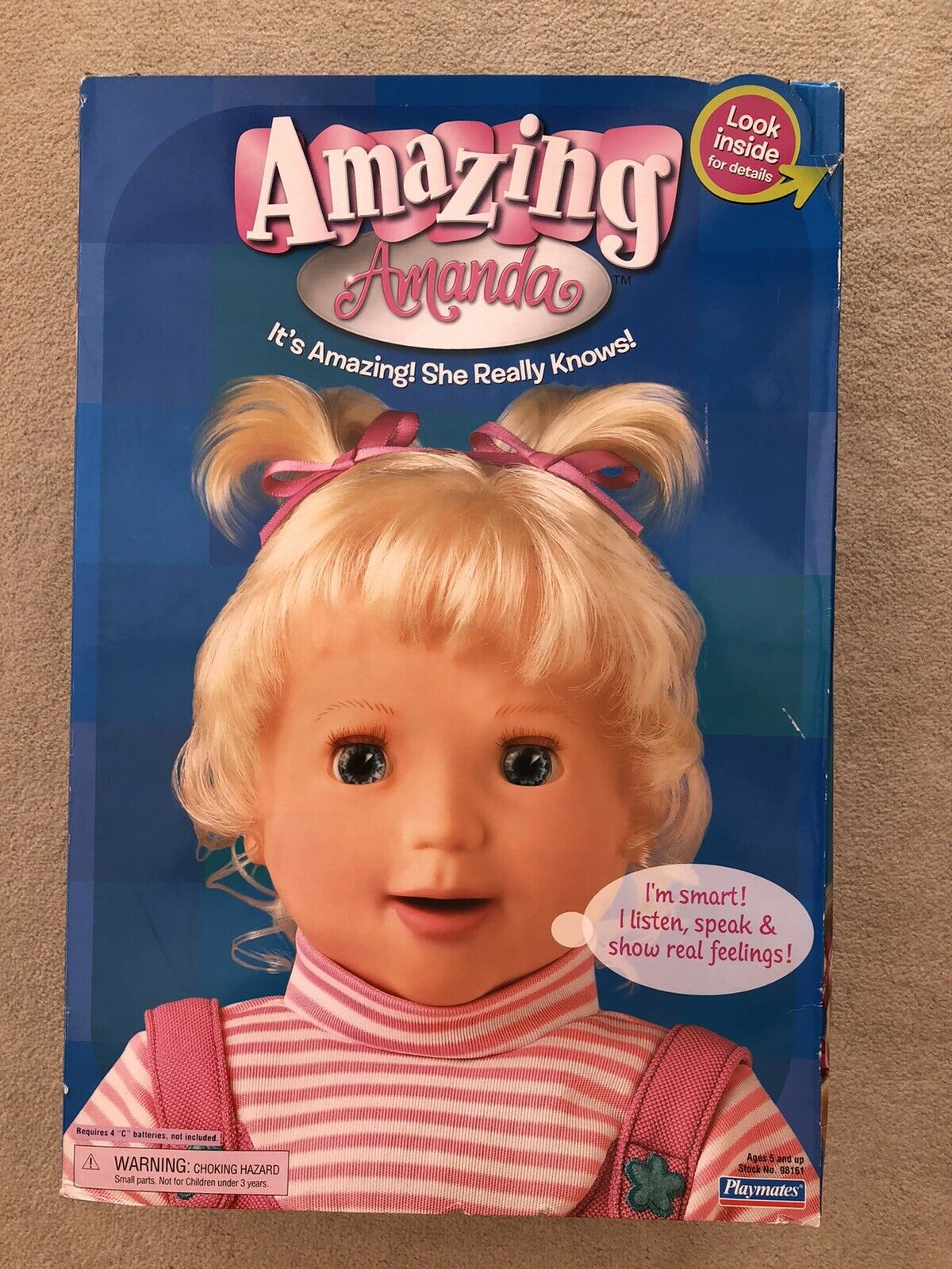 AMAZING AMANDA TALKING INTERACTIVE DOLL BOXED COMPLETE WITH ACCESSORIES RARE HTF