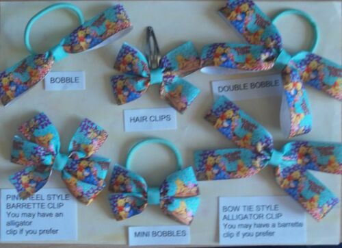 O THESE ARE NOT GENUINE LICENSED ITEMS CHILDREN/'S FILMS HANDMADE HAIR BOWS